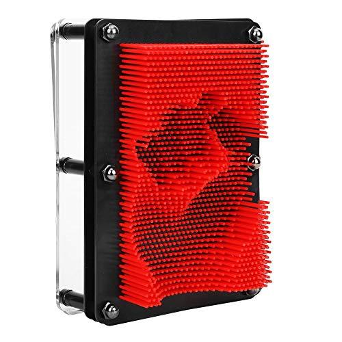 Jarchii Feines und hoch entwickeltes hochpräzises, hochwertiges Klonnadelmodell, professionelles Klonhandmodell, für Schreibtisch(Medium red)