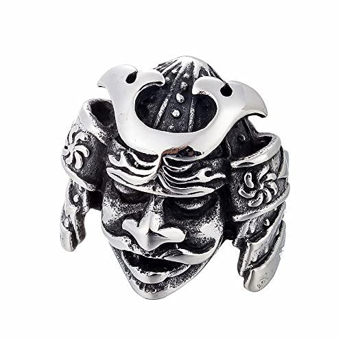 GXL&YZQ Anelli per Uomo Ritratto Indiano Capo Teschio Stile Goth Punk in Acciaio Inossidabile Lucidato A Mano Prepotente Gioielli Squisiti per Uomo Donna Ragazzi Ragazze Regalo di Anniversario,10