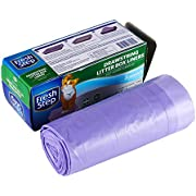 """Fresh Step Drawstring Cat Litter Box Liners, Scented, Jumbo Size, 2.5 Ft x 17"""" - 7 Count Per Box"""