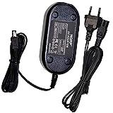 HQRP Cargador Adaptador de CA Compatible con JVC Everio GZ-MG21, GZ-MG57, GZ-MG57U, GZ-MG57US, GZ-MG630, GZ-MS100U, GZ-MS100US Videocámara