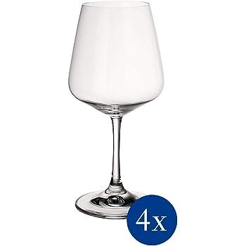 Villeroy & Boch Ovid Verres à vin rouge, Lot de 4, 590 ml, Cristal, Transparent