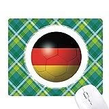 ドイツの国旗のサッカー・ワールドカップ 緑の格子のピクセルゴムのマウスパッド
