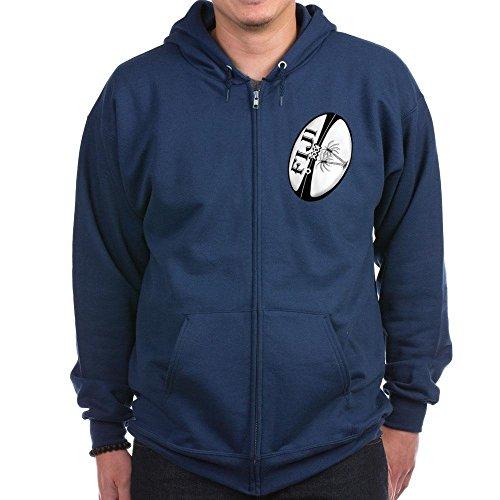 CafePress Fidji Rugby Ball Zip Hoodie (dunkel) Zip Hoodie Gr. M, navy