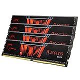 G.SKILL 64GB (4 x 16GB) Aegis DDR4 PC4-17000 2133MHZ for Intel Z170 Platform and Intel X99 Platform 288-Pin Desktop Memory Model F4-2133C15Q-64GIS
