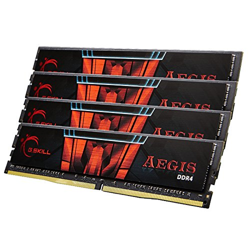 G.Skill 64GB DDR4-2400 64GB DDR4 2400MHz módulo de - Memoria (DDR4, PC/Server, 288-pin DIMM, 4 x 16 GB, Dual, Negro, Rojo)
