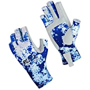 RUNCL Fishing Gloves, Fingerless Gloves, Sun Gloves - Stretch Fit, Breathable Ventilation, Sun Protection, Fingerless Design, Angling-Specific Design - Fishing, Kayaking, Rowing, Cycling, Mowing