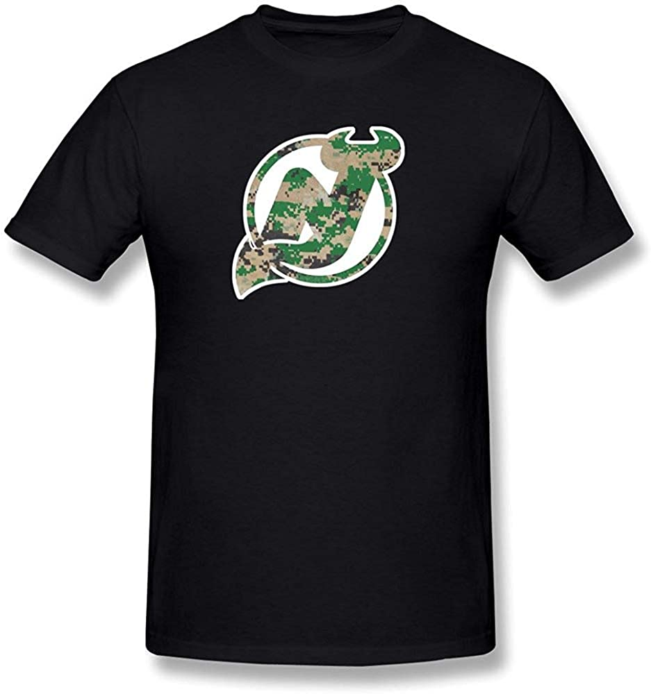 QQH Gilbert Joyce Mens New Jersey Devil Camo Tshirts Black