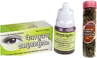 Kottakkal Arya Vaidya Sala Eye Drops 500ml, With Free Dilbahars Yummy Digestives Khatta Mitha Chhuhara 500gm