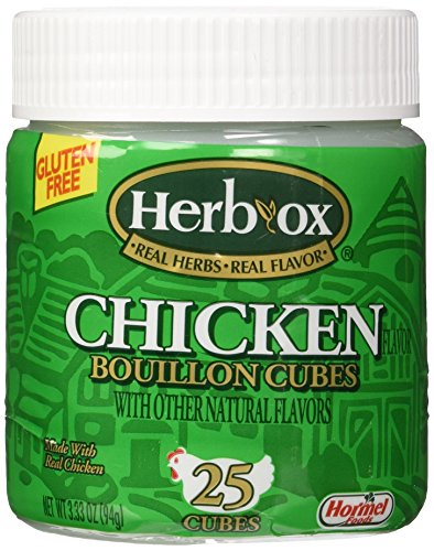 Herb-Ox Bouillon Cubes Chicken Bouillon 25 Ct 3.33-oz (Gluten Free)
