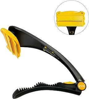 BANGMENG Afeitadora de pelo y depilación corporal con 2 cabezales de cuchilla, mango plegable y curvado para un cierre, afeitado sin dolor en seco o mojado, 4 cuchillas de afeitar incluidas