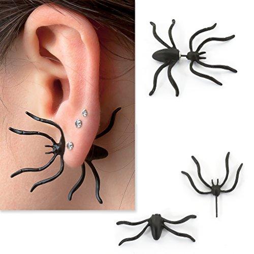 Oblique-Unique® Spinne Ohrring Ohrstecker Halloween Karneval Fasching