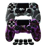 Hikfly Silicone Gel Controller Cover Skin Protector Compatible for Sony Playstation 4 PS4/PS4 Slim/PS4 Pro...