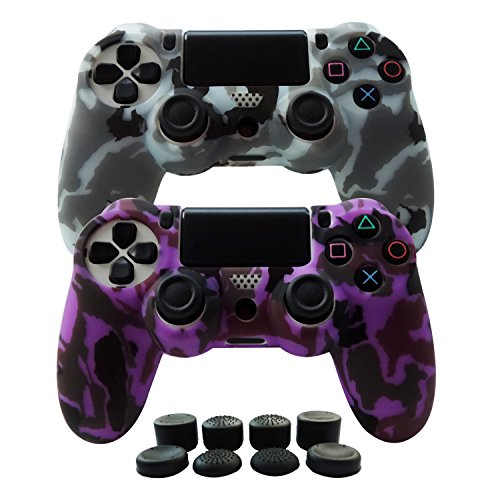 Hikfly Silicone Gel Controller Cover Skin Protector Compatible for Sony Playstation 4 PS4/PS4...