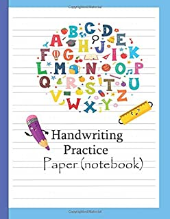 Handwriting Practice Paper: Preschool Practice Paper  : Notebook with Dotted Lined Sheets for K-3 Boy Girl Students , Pre K, Kindergarten , Kids Ages 3-5 Hand writing , ABC , Number