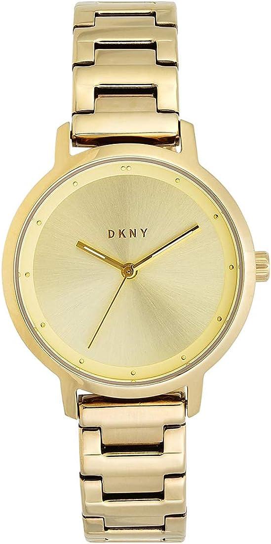 DKNY Reloj Analógico para Mujer de Cuarzo con Correa en Acero Inoxidable NY2636