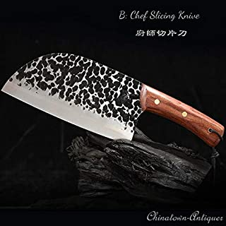 Cuchillo de cocina serbio de acero para cazadores, de Dangfeipeng #5116 B: Cuchillo rebanador de chef