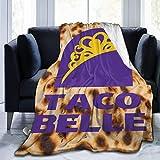 N / A Blankets,Taco Tuesday Ta-Co Be-Lle Blankets, Manta De Sofá Ligera para Niños Adultos Y Niños,102x127cm