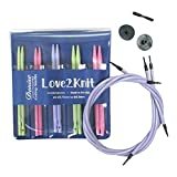 Love2Knit Interchangeable Knitting Needle Set,...