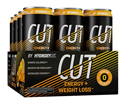 Energy Drink + Weight Loss   Hydroxycut Cut   Sparkling Energy Drinks + Weight Loss   Sugar Free, Zero Calories   Metabolism Booster for Weight Loss   Orange Mango Pineapple, 12 fl oz Can (Pack of 12)