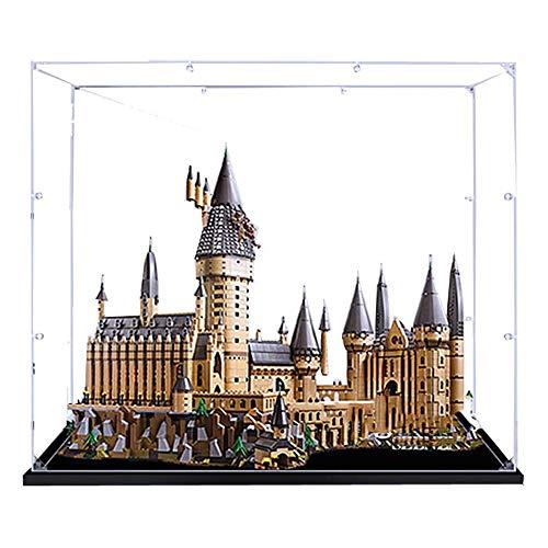 JW-YZWJ Caja de visualización acrílica, Caja de visualización de protección contra el Polvo Compatible con Lego 71043 (Modelo de Castillo no Incluido)