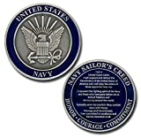 Size: 1 3/4 inch (44mm) Round Material: Brass with Enamel Officially licensed by the U.S. Navy