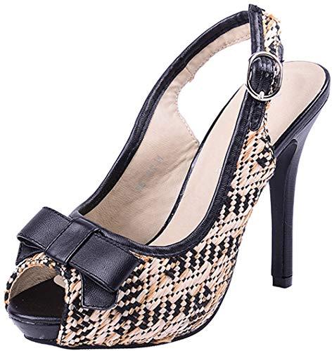 Damen Schuhe Riemchen Peep Toes High Heels Creme Peep Toes 36