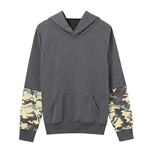 Great Price! Sttech1 Women Autumn Long Sleeve Camouflag Splicing Patchwork Long Sleeve Top Sweatshir...