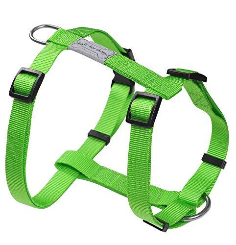 Harnais pour chien Basic Line Wouapy, Harnais Vert de 74/117 cm