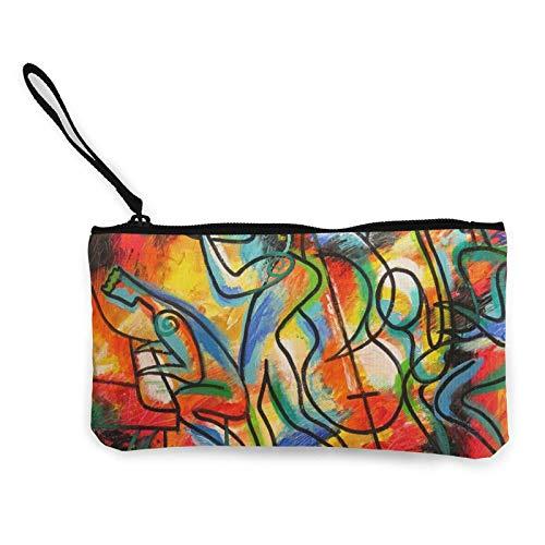 XCNGG Monederos Bolsa de Almacenamiento Shell Avant Garde Symphony Orchestra Canvas Coin Purse with Zipper Coin Wallet Multi-Function Small Purse Cosmetic Bags For Women Men