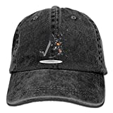 SOTTK Hombre Mujer Gorras de béisbol, Interesting Musical Note Denim Hat Adjustable Men's Surf Baseball Cap