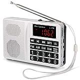 Radio Portable PRUNUS L-258 SW/FM/AM(MW)/SD/TF/USB(0-64 GB) MP3, Large Bouton et Affichage, Enregistre Les Stations manuellement...