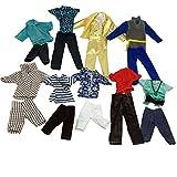 Lance Home 5sets Camisas, Pantalones y Pantalones para el Novio de 32cm Muñecas, Estilos al Azar