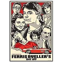 フェリスはある朝突然に映画のポスターキャンバスの絵画がリビングルームの家の装飾のために印刷された-50X70CMフレームなし