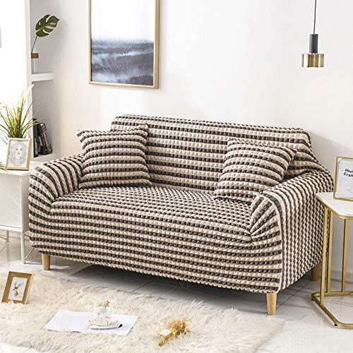 Fsogasilttlv Funda elástica para Protector de sofá,Fundas de sofá de Color sólido Funda Protectora Antideslizante para Muebles Muebles Estar-Gris Oscuro 1 2 plazas 145-185cm (1 Pieza)