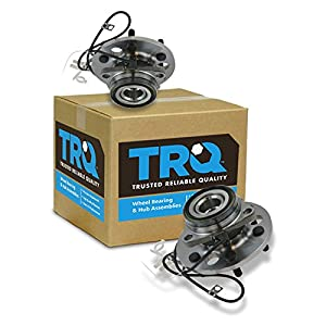 TRQ Front Wheel Hub & Bearing Pair Set for Chevy K1500 Pickup Tahoe w/ABS 4WD