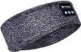 Auriculares para Dormir, Auriculares inalámbricos con Banda para la Cabeza V5.0 Bluetooth, Auriculares con máscara para los Ojos, Altavoces estéreo HD ultrafinos incorporados-A21