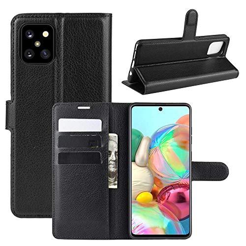 CoverKingz Handyhülle für Samsung Galaxy Note10 Lite [6,7 Zoll] - Handytasche mit Kartenfach Note10 Lite Cover - Handy Hülle klappbar Schwarz