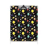 クリップボード A4 宇宙 かわいい画板 彗星 A4 タテ型 クリップファイル ワードパッド ファイルバインダー 携帯便利星座 水玉模様の星