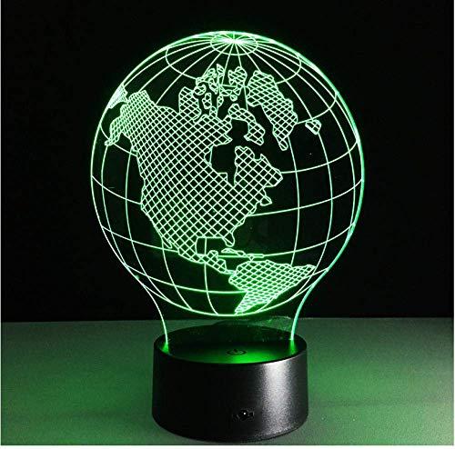 Festival America Map 3D-lamp 7 kleuren LED nachtlampen voor kinderen Touch LED USB tafel baby slapen nachtlampje baby slaapkamer