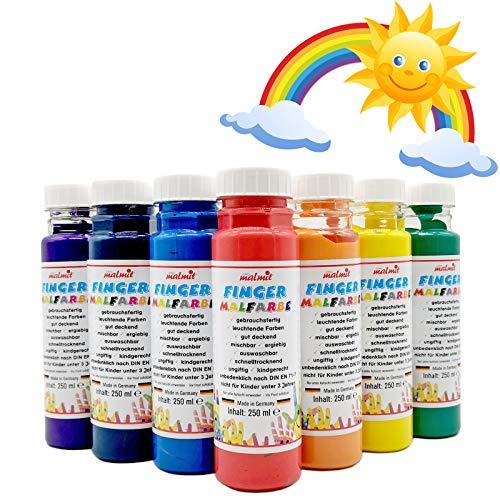 Werner Fingermalfarbe - Regenbogen-Set - Alles Wird GUT 7 Fingermalfarben je 250ml vom Hersteller