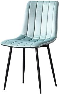 Mid Century Modern Dining Chairs Para Cocina,acentuación De La Silla Lateral Tapizada De Terciopelo Silla De Ocio Con Patas Metálicas Para Vivir Comedor Conjunto De 2 Verde 48x63x85cm(19x25x33inch)