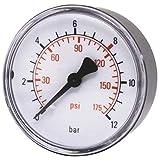Manómetro de aire comprimido ELMAG 40 mm 0 10 bar - con rosca externa, la parte trasera de 0,32 cm, 42220