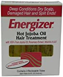 Hobe Labs Energizer Hot Jojoba Oil Hair Treatment With Vitamin A & E, Reclosable Tubes 0.5 Oz, 3 Ea, 3count