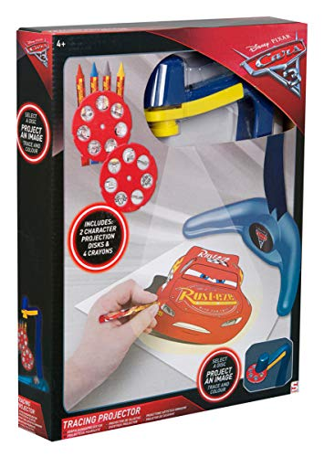 Sambro DSC8-Y17-4516 - Proyector con Plantillas y Ceras, diseño de Cars 3 de Disney Pixar