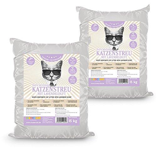 Rinderohr White Katzenstreu mit Lavendelduft 30kg
