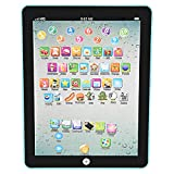 Toddler Tablet Learning Pad English Language Educational Tablets Study Learning Machine for Learn Alphabet Sounds, Shapes, Music and Words for Girls Boys Baby - 3 Year Old (Black)