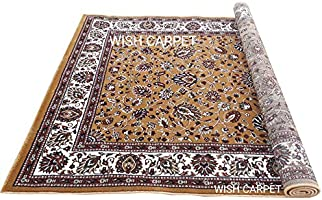 Wish Carpet Kashmiri Design Persian Carved Carpet for Your Living Room with 1 inch Thickness 3 X 5 Feet Colour Multi