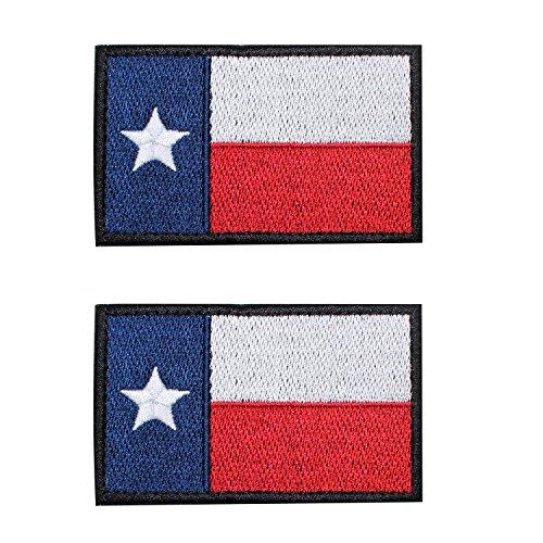 EJG 2 Pack 3x2'Velcro Patches Tactical Patch Texas Flag...