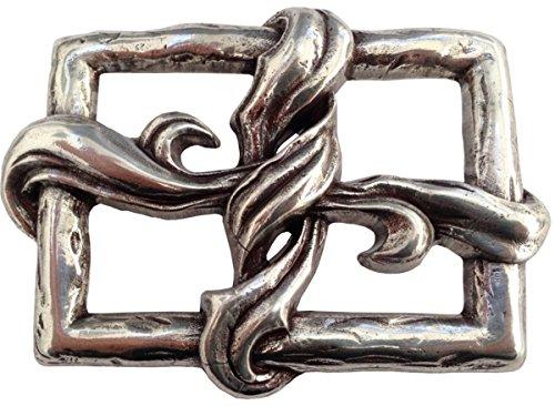 Brazil Lederwaren Gürtelschnalle Window 4,0 cm | Buckle Wechselschließe Gürtelschließe 40mm Massiv | Für Wechselgürtel bis zu 4cm Breite