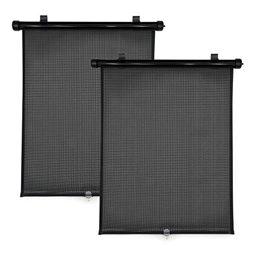 Travel Bug 2-Pack Roller Shades for Cars, Trucks, Vans, SUVs, Sun Protection for Baby